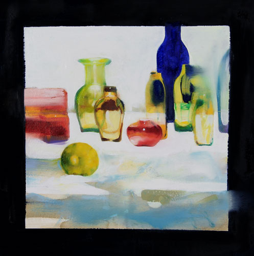 Yellow , 29 1/2 x 29 1/2 inches, oil on prepared paper, 2005