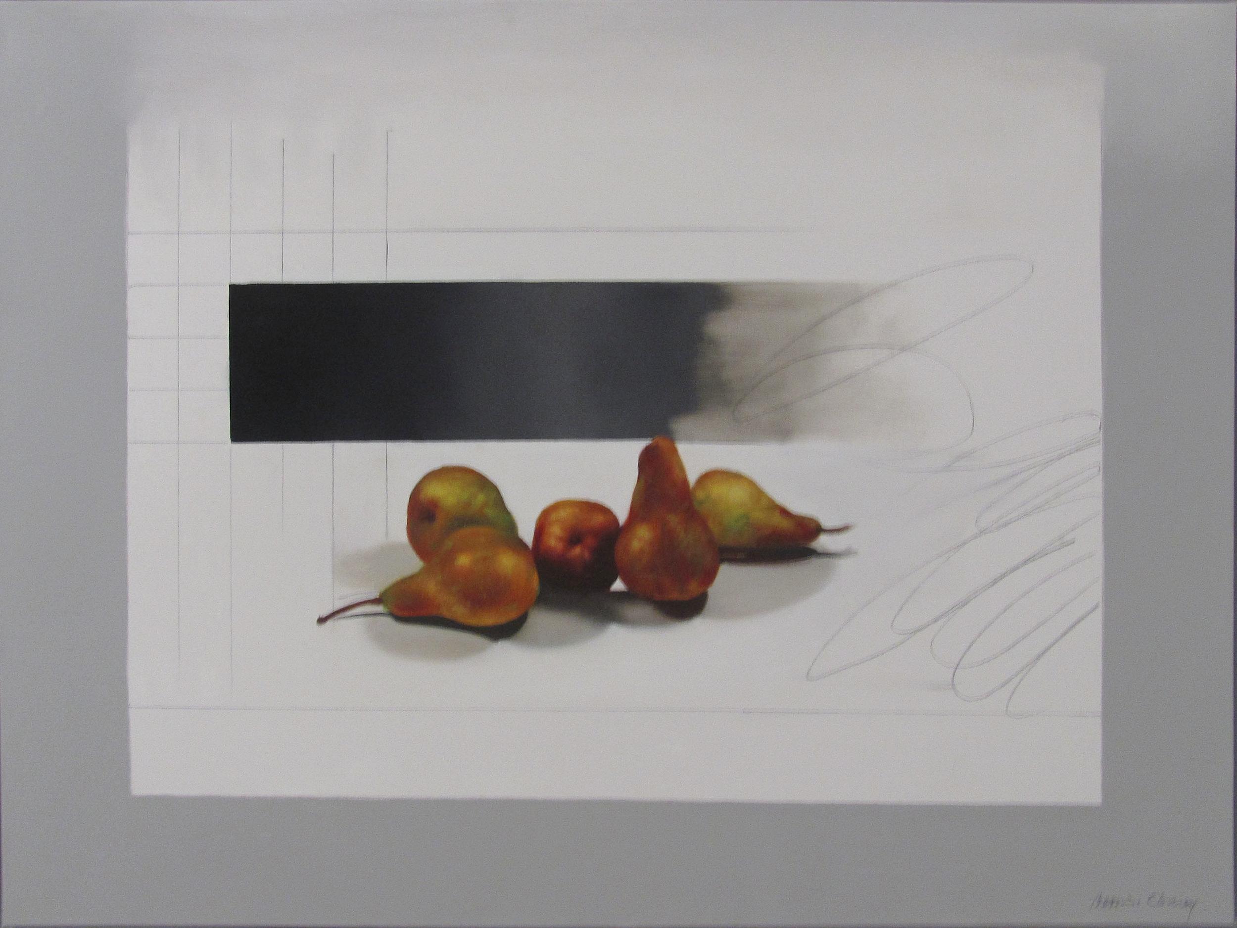 "Pears  31 1/2"" x 41 1/2"", oil, 2014"