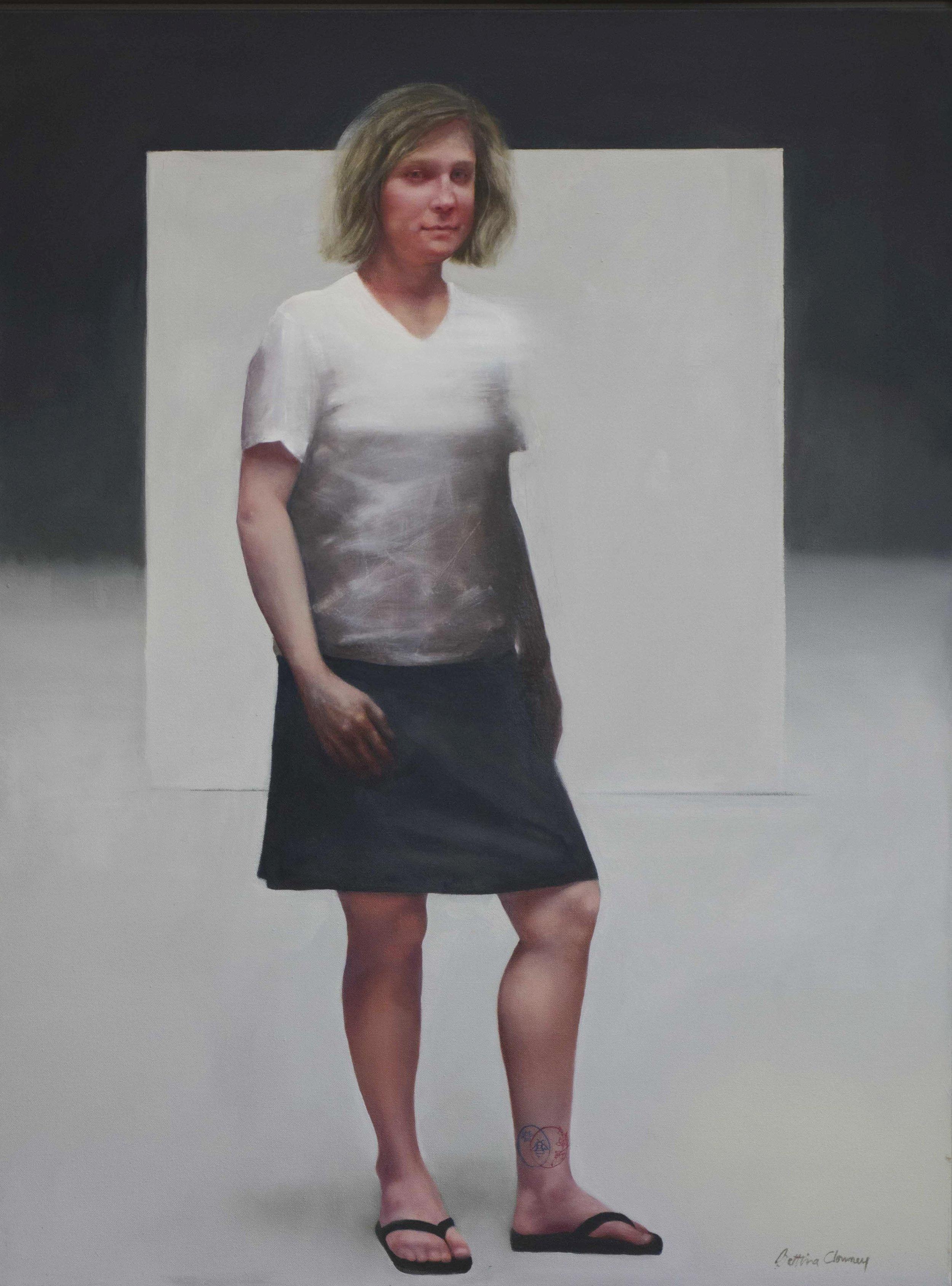 "American Portrait  41 1/2"" x 32"", oil, 2014"
