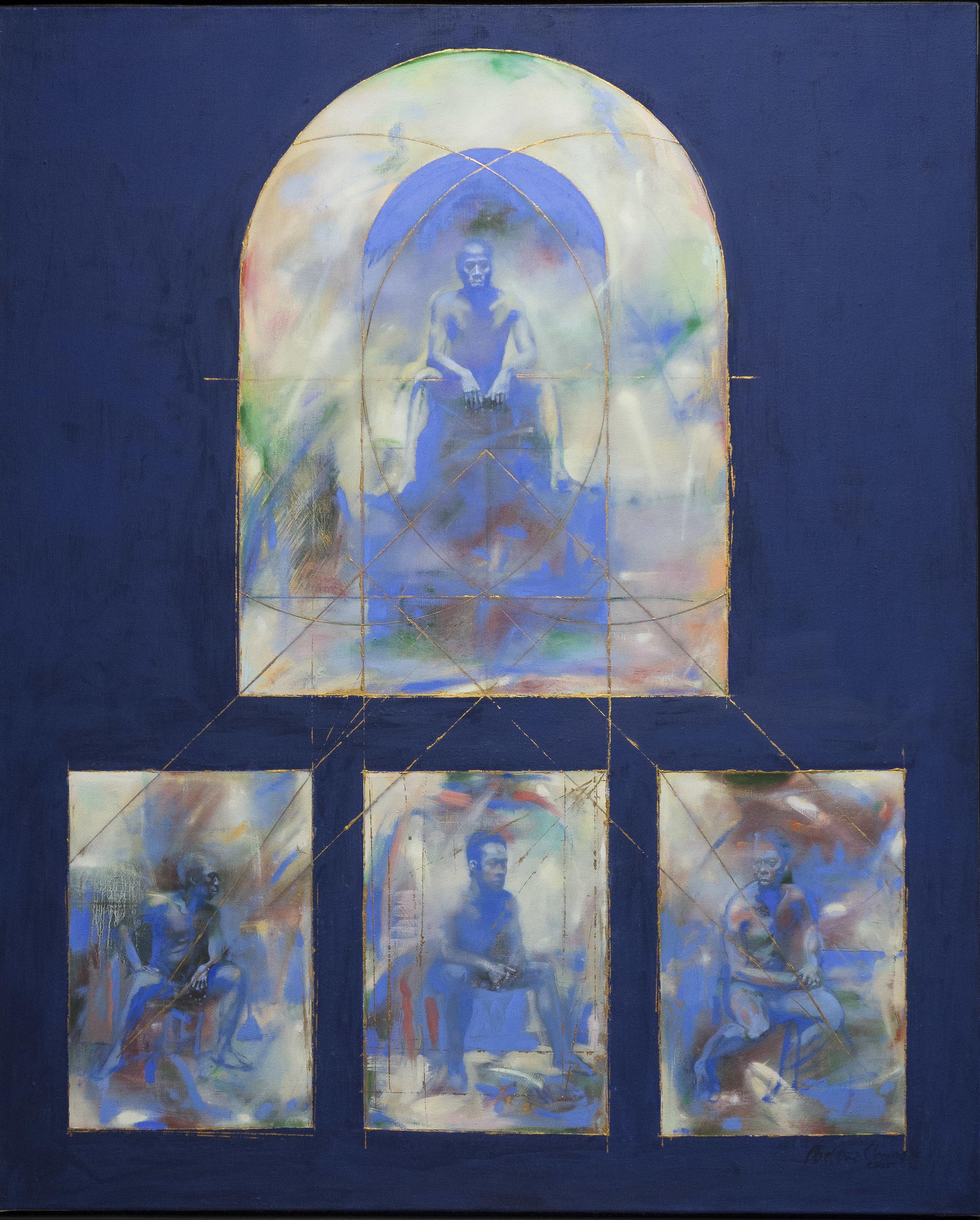 """Anthropos, 40"""" x 49"""", oil, 2005"""