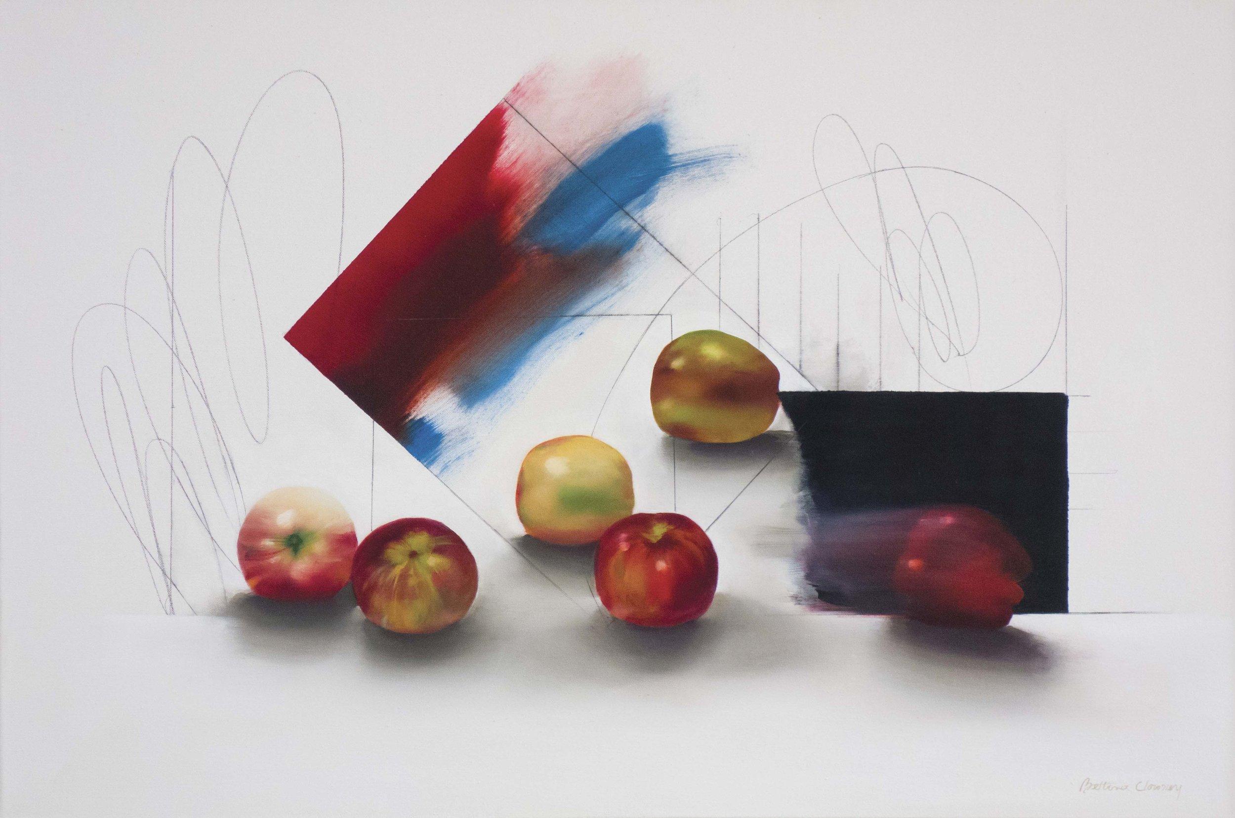 "Apples, 25"" x 36"", oil, 2015"