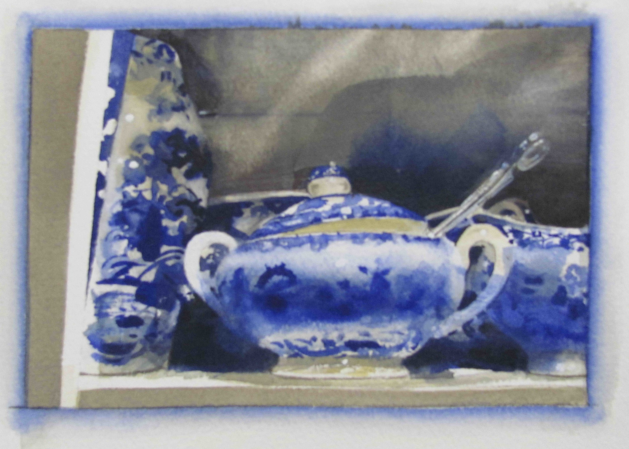 "Blue_White 1, 15"" x 13"", watercolor, 2012"