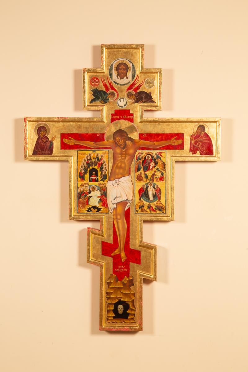 Iconic cross, 6' x 4'. Episcopal Church of the Holy Spirit, Harleysville, PA