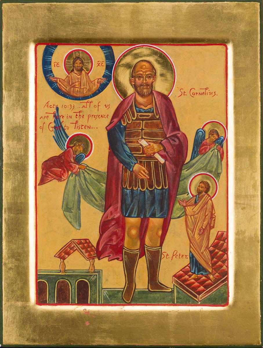 Icon of Saint Cornelius. Private collection.