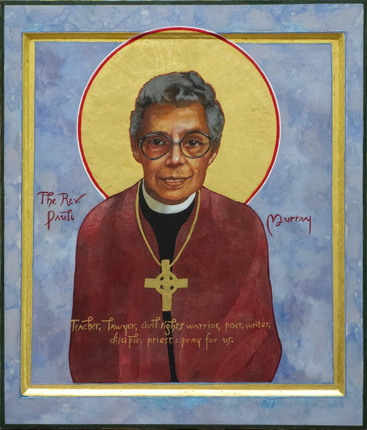 Icon of the Reverend Pauli Murray, Episcopal Saint.