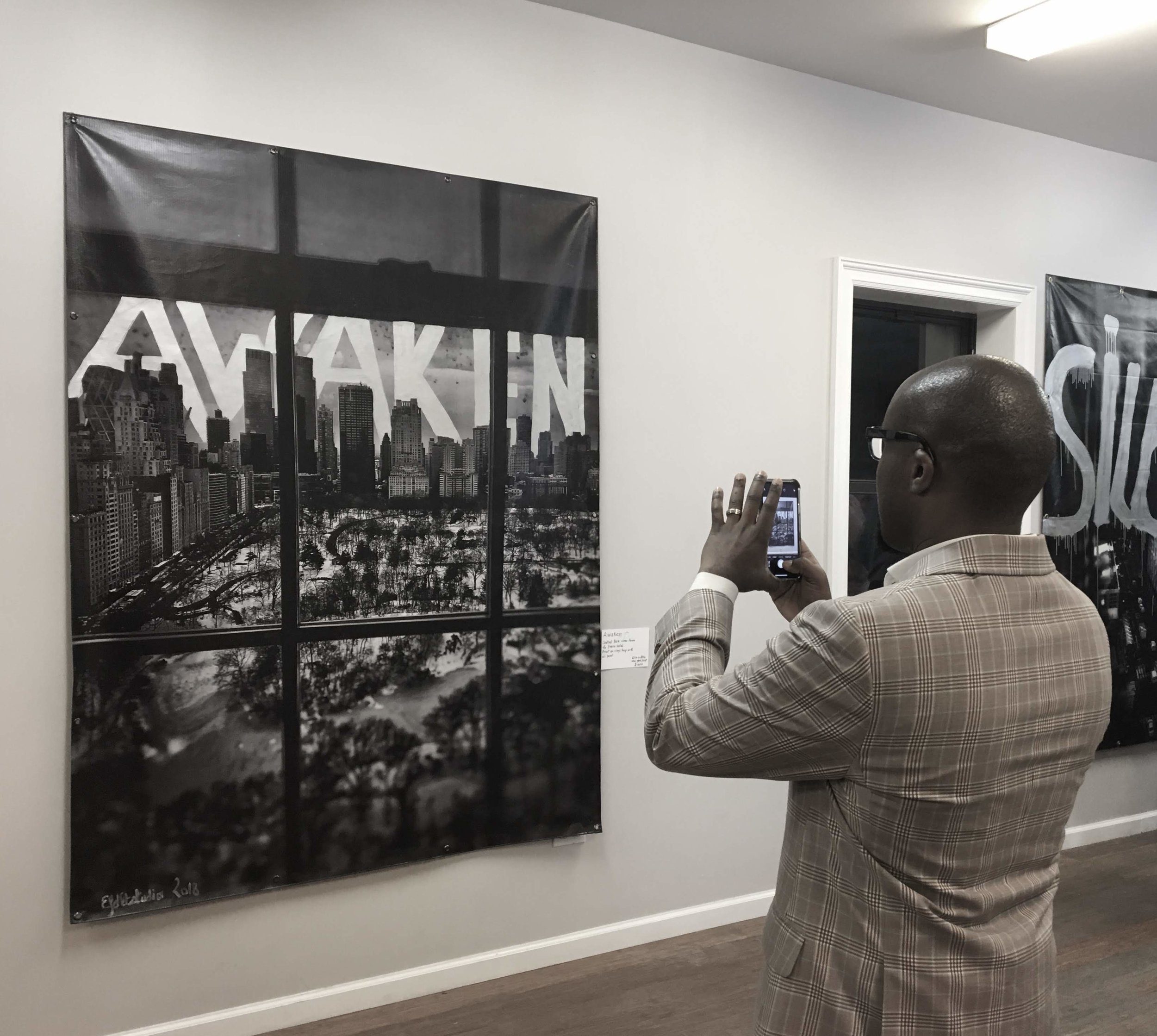 Isaiah Hemmingway at EFDLT Studio exhibition in NYC - 2018.JPG