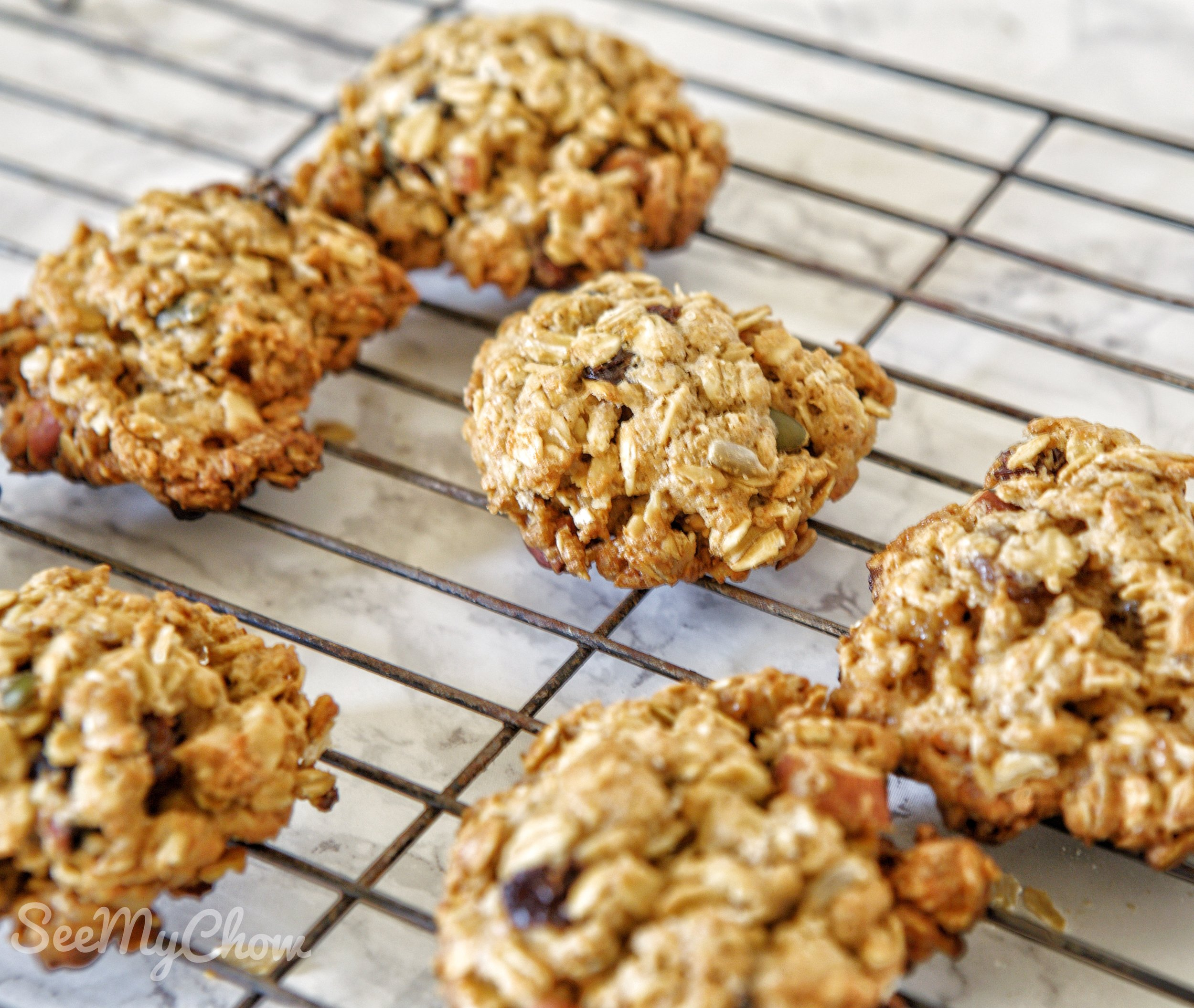Rolled oatmeal cookies
