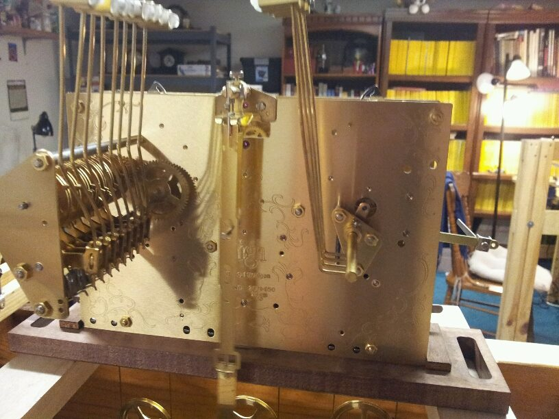 Kieninger Grandfather Clock Movement-Cleaned and Serviced