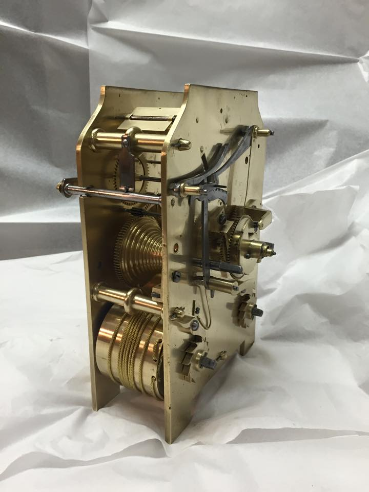 Completed overhaul on a twin Fusee bracket clock movement-c.1850