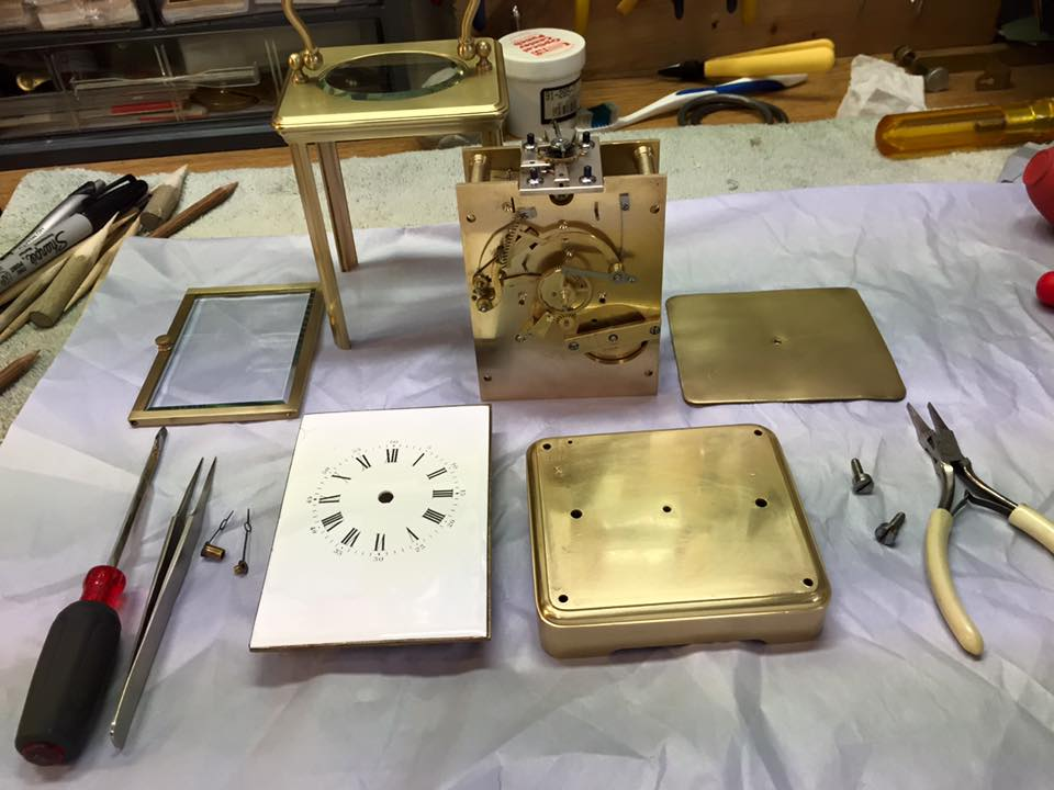 Carriage Clock-Overhauled and Ready for Assembly
