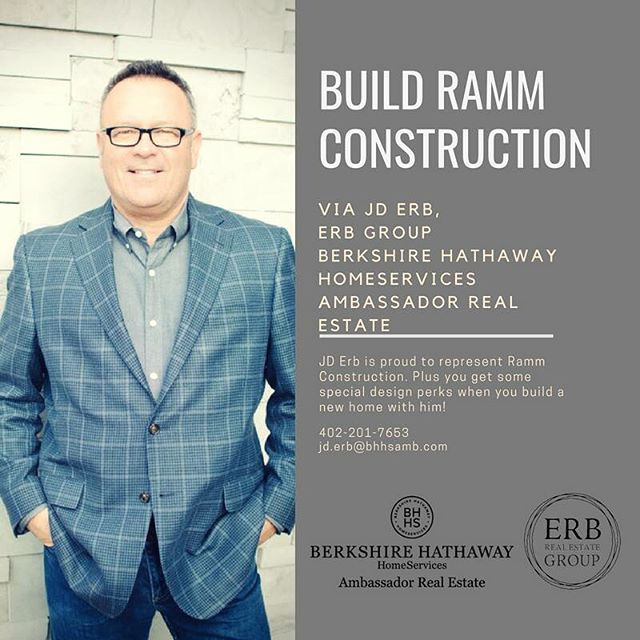 Contact JD Erb to talk about building with Ramm Construction! 402-201-7653 @rammomaha @pearsonandcompany #newconstruction #homesweethome #erbrealestategroupne #rammrocks