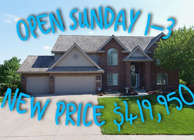 15721 Grant Circle in Huntington Park is open Sunday 1-3. It has 4 bedrooms, 5 bathrooms, and over 4,800 fsf. Finished walk out basement plus huge flat fenced yard.  #huntingtonpark #omaharealestate #erbgroup #twostoryhome #forsale #bhhsamb