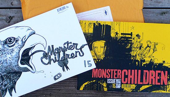 Guest cover designs (left; illustrator Travis Millard. right; Art Dump)