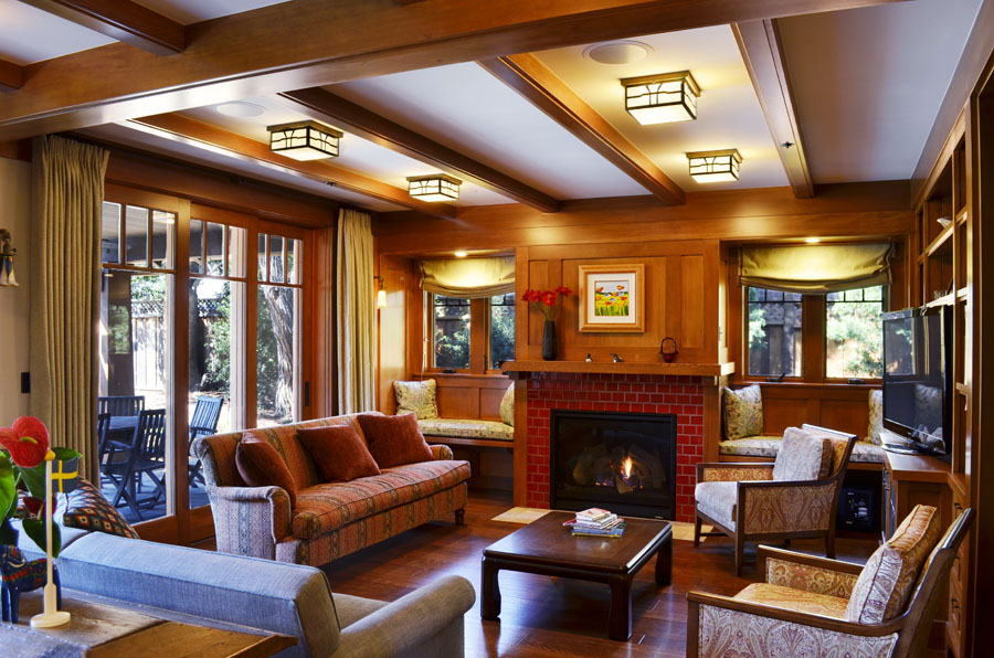 Family Room of Craftsman Style Home