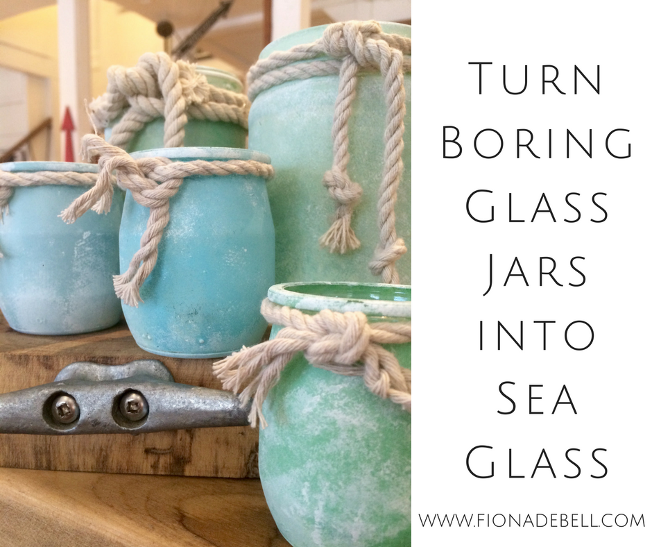 Sea Glass from yogurt jars.