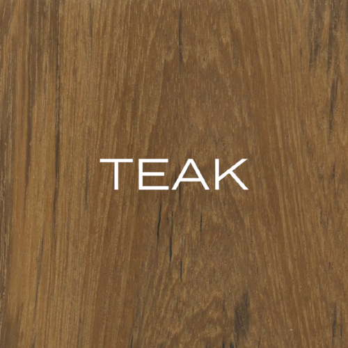 Teak is the nemesis of the furniture painter. It has an oily feel and a golden-brown colour.
