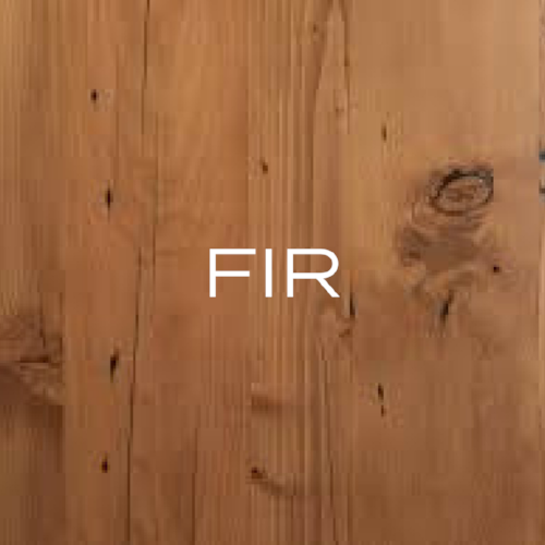Sometimes called Douglas Fir. Has a straight, pronounced grain and has a reddish brown tint. Not particularly attractive and doesn't take stain well.