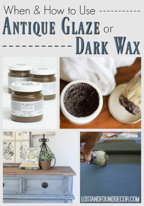 Dark Wax and Glazing - we get daily questions about this. Click here for the full blog post from Melanie.