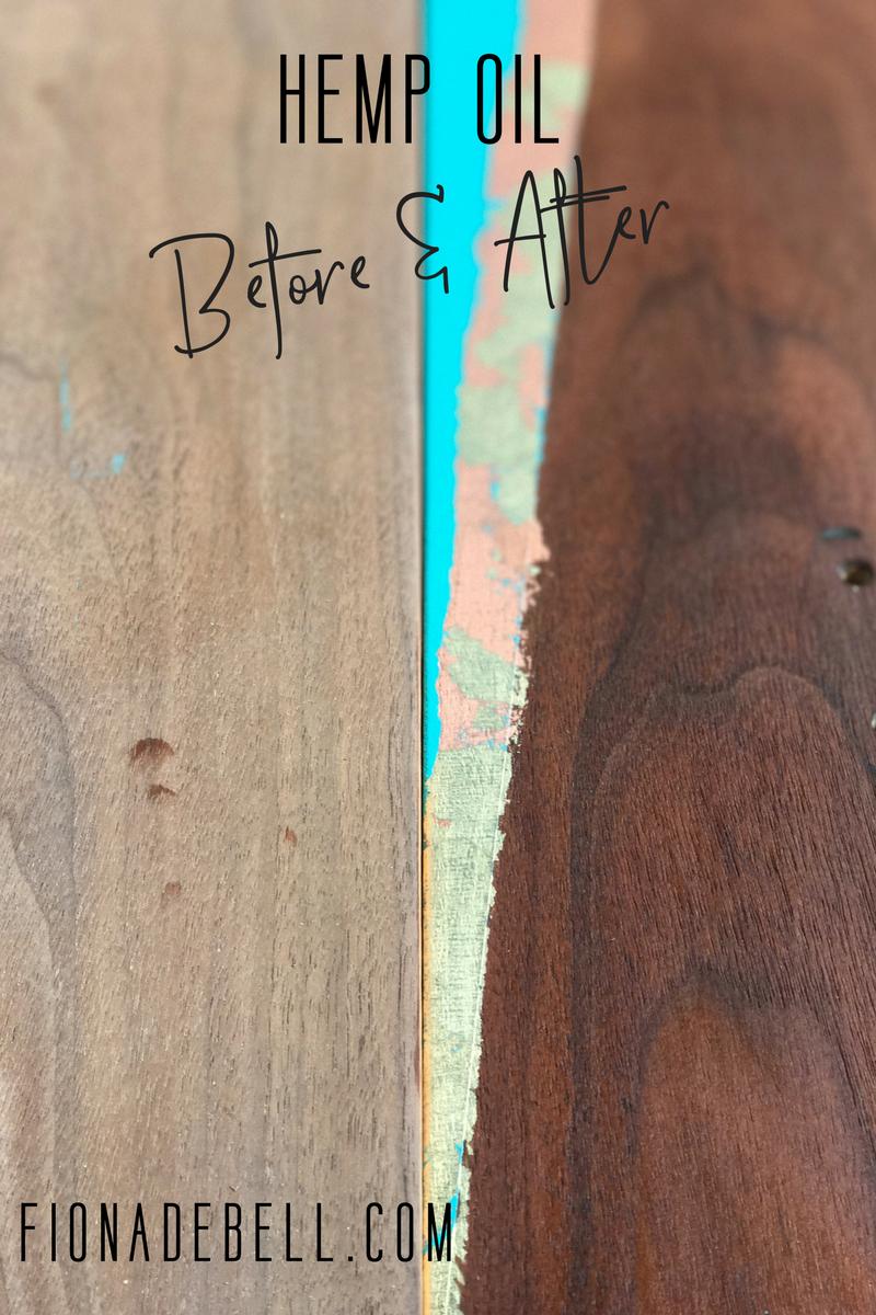 See how the Hemp Oil Feeds the Wood!