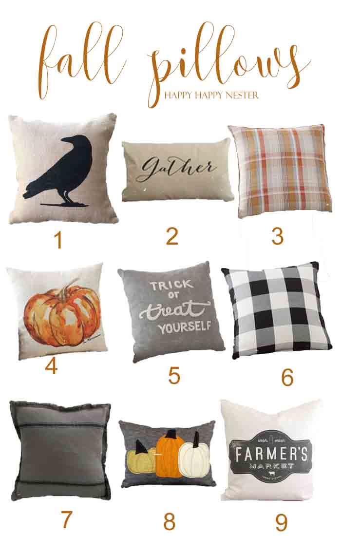 Collection of Fall Pillows from the  Happy Happy Nester