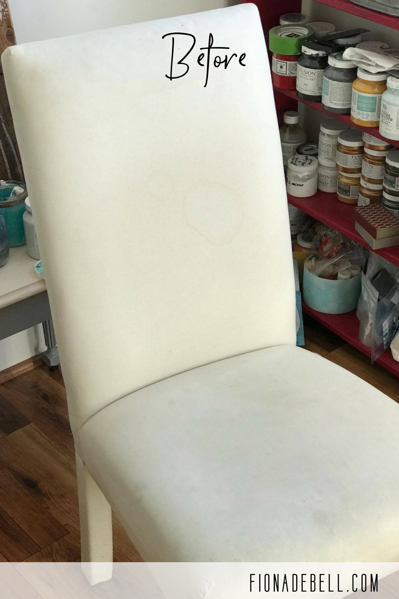 Fabric Chair prior to being painted.  |  fionadebell.com