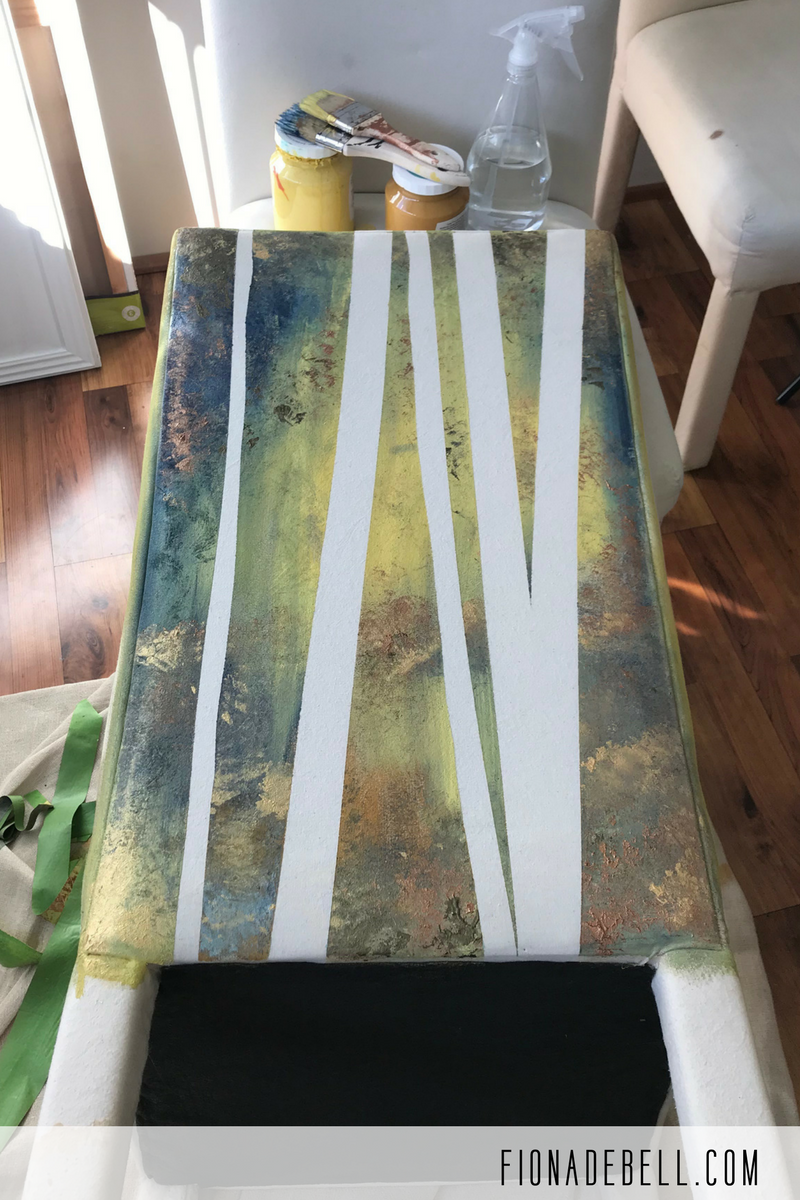Remove the painters tape from your chair to reveal the 'forest'.  | fionadebell.com