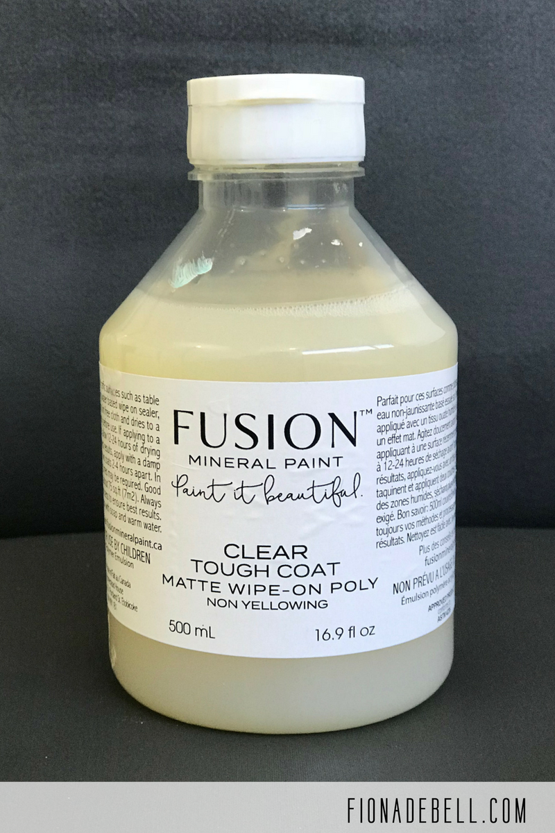 Tough Coat from Fusion Mineral Paint is great on fabric.  | fionadebell.com