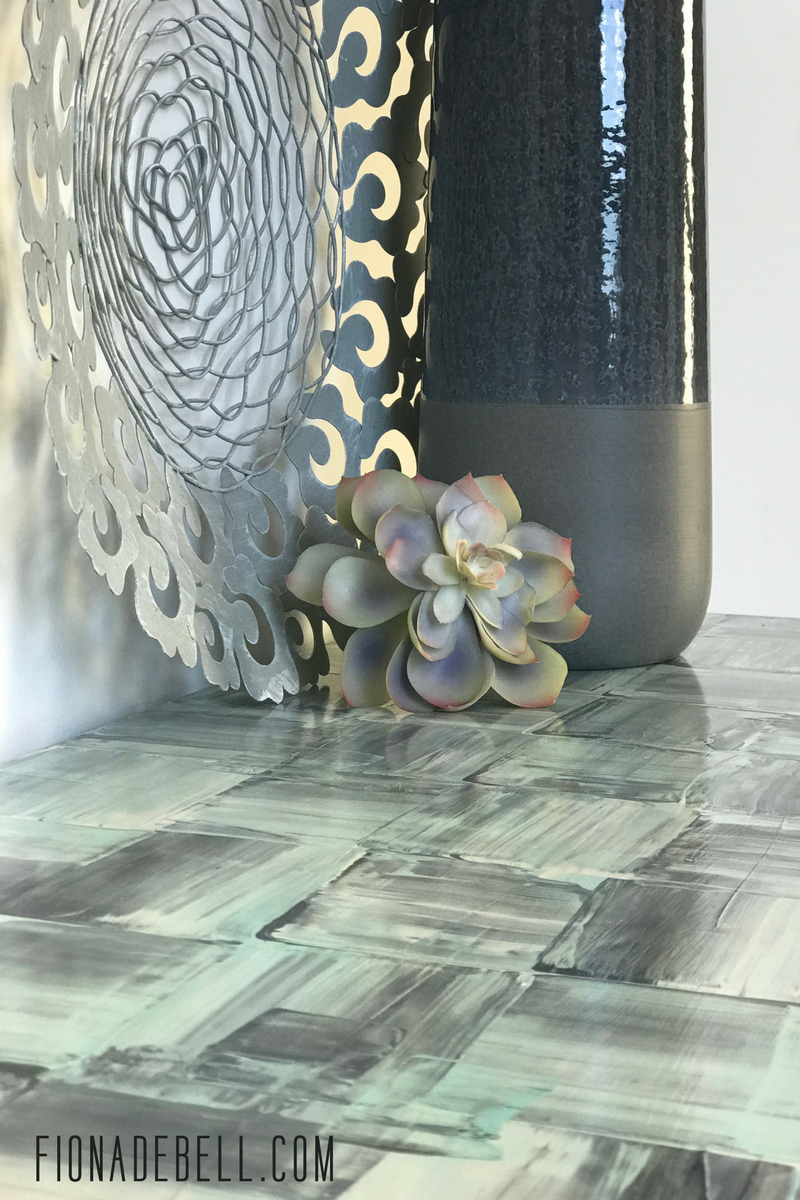 A laminate table top turned into furniture art. | fionadebell.com