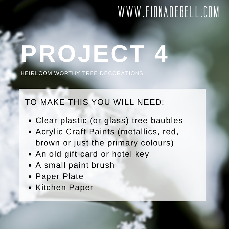 This is the fourth project in our series of holiday makes and here is a list of products you will need. | fionadebell.com