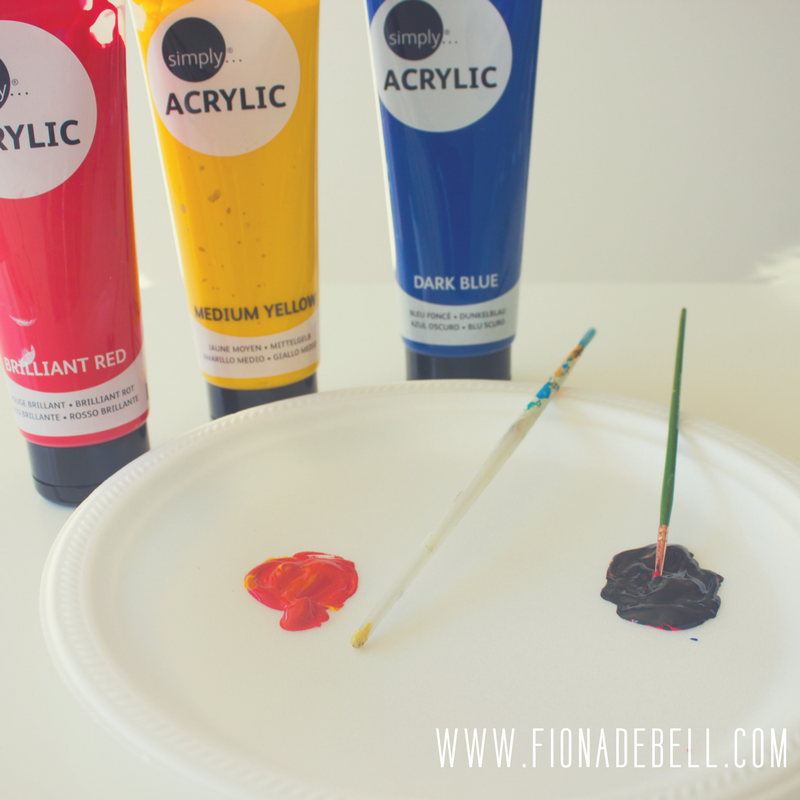 Mix paint colours together to create the colours you want. | fionadebell.com