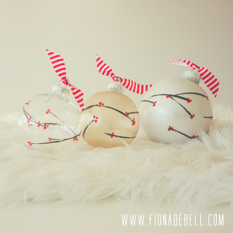 Beautiful Hand Painted Baubles. | fionadebell.com