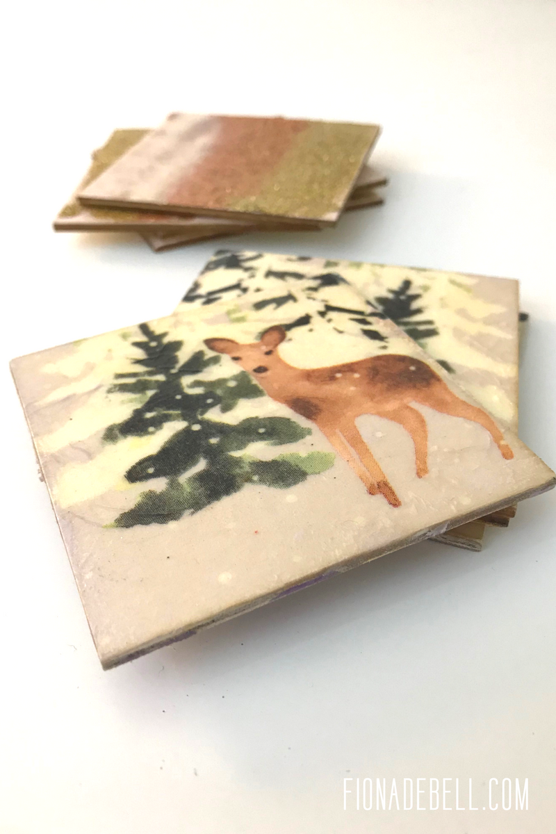 Handmade Coasters for the Holidays.  |  fionadebell.com