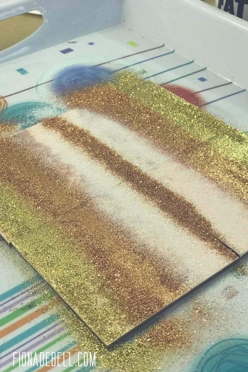 Ombre Glitter Coasters. | fionadebell.com