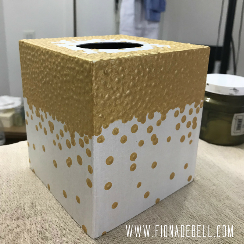See the beautiful texture created by dotting the paint.  | fionadebell.com