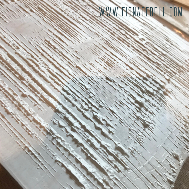 Texture on the modeling paste. | fionadebell.com