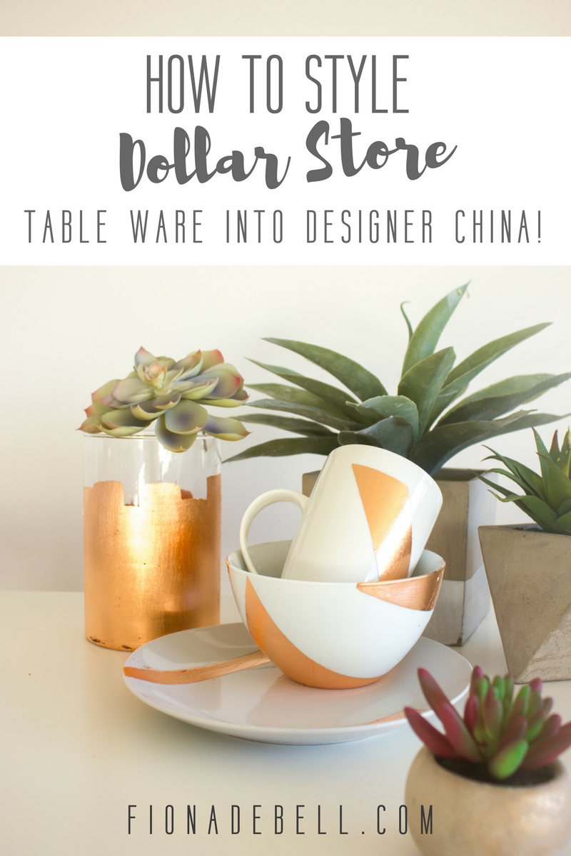 Dollar Store White China made beautiful! | fionadebell.com