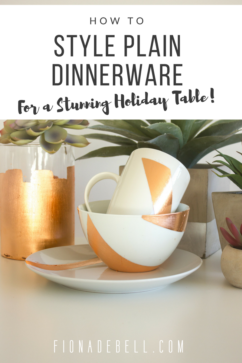 Beautifully re-decorated table wear. | fionadebell.com
