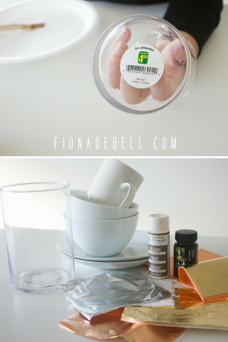 You can gild on glass too. | fionadebell.com
