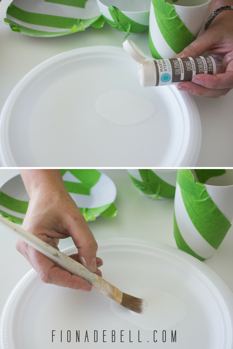 Apply gilding size to your china. | fionadebell.com