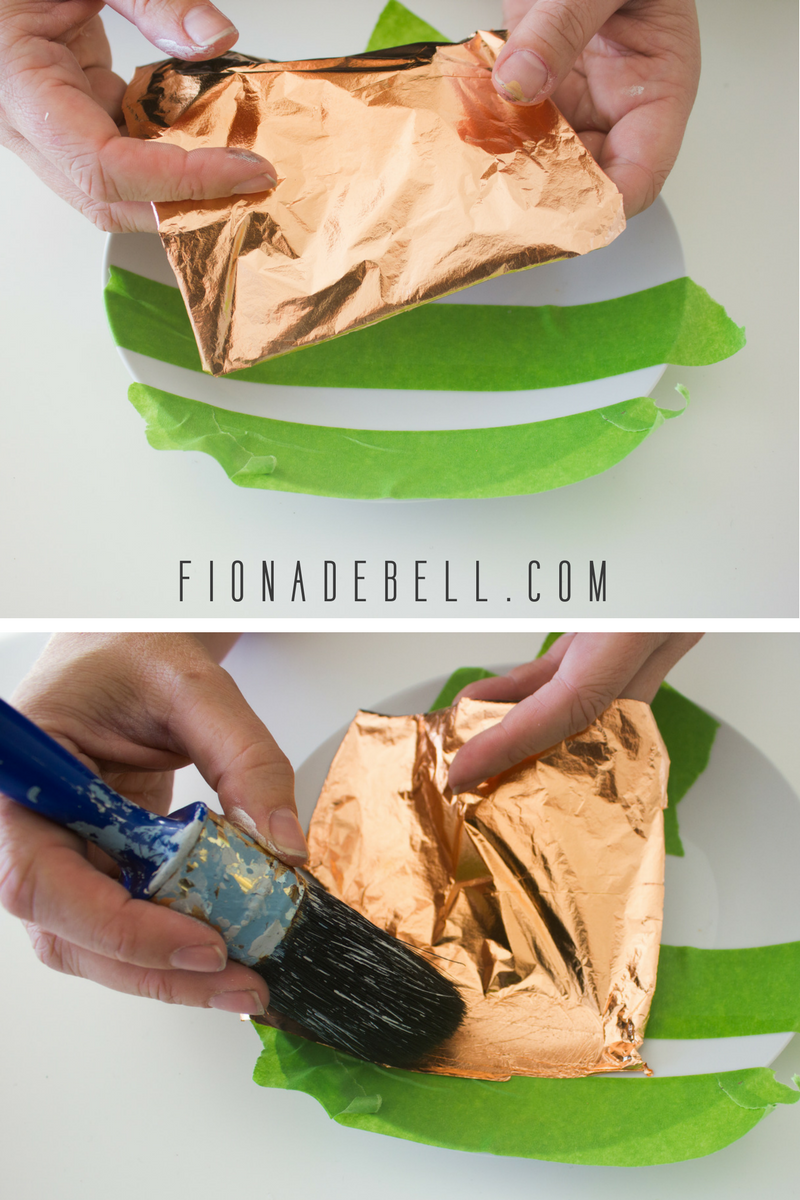 Apply Copper Leaf to your china. | fionadebell.com