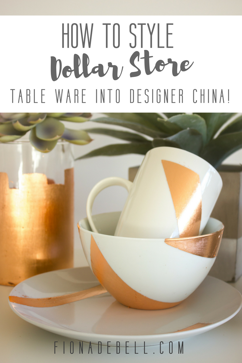 Copper highlighted china. | fionadebell.com