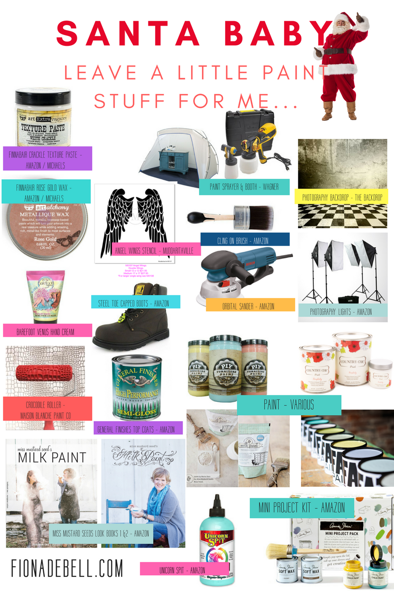 A visual list of supplies every furniture painter should have on their gift list! | fionadebell.com