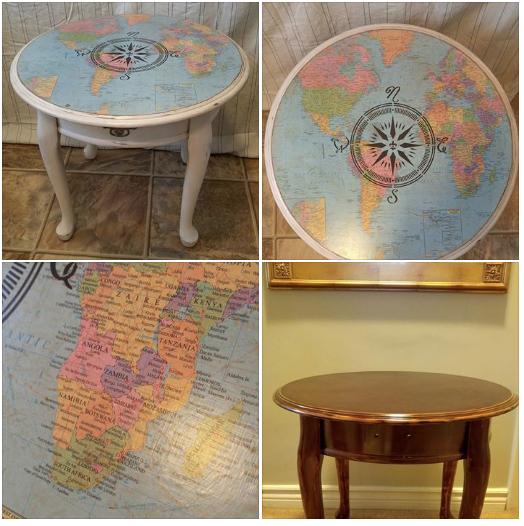 Karen Anstead's Decoupage table.