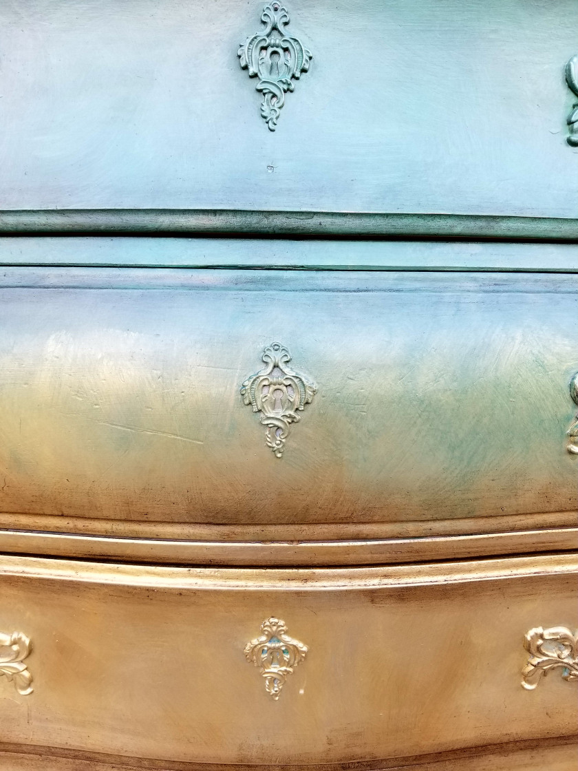 Stunning Bombe Chest from Brushed By Brandy.