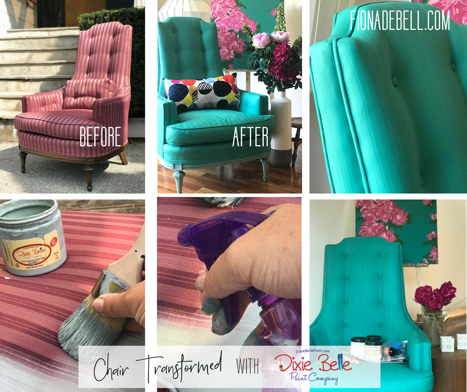 Just look at the 'Before' image of this chair painted by Fiona. | fionadebell.com