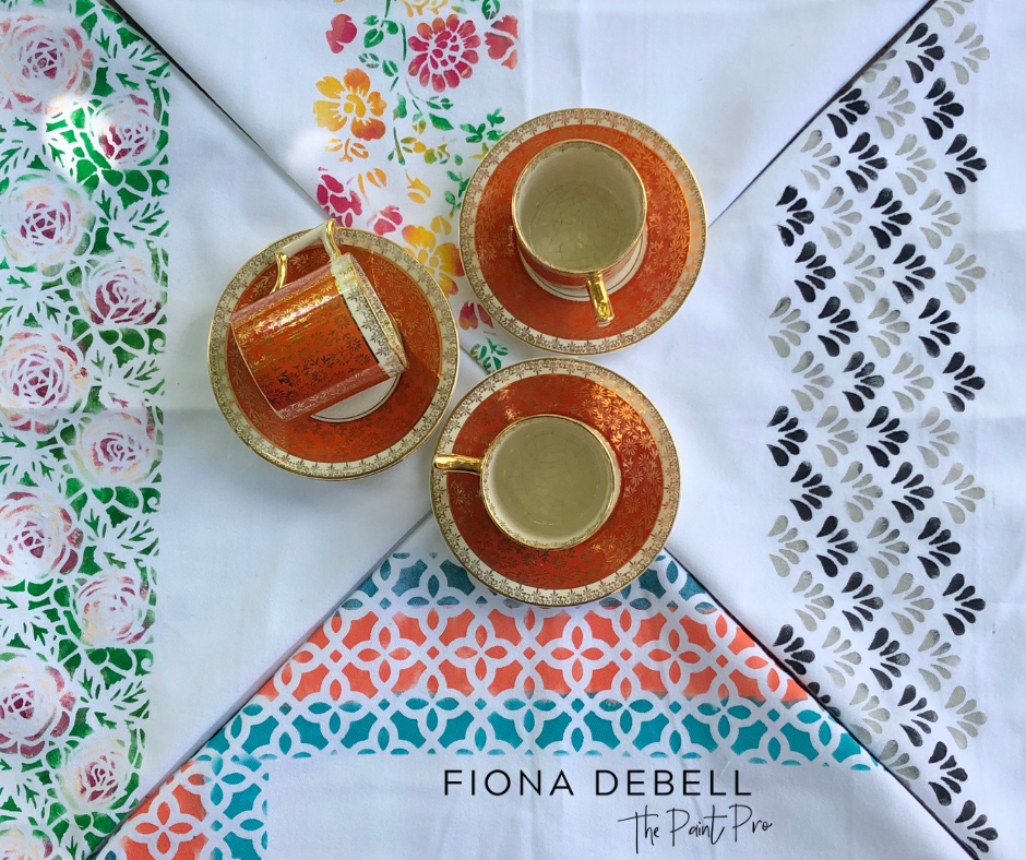 Using some very cool products, we will explore colour and explain why painting fabric is so great! | fionadebell.com