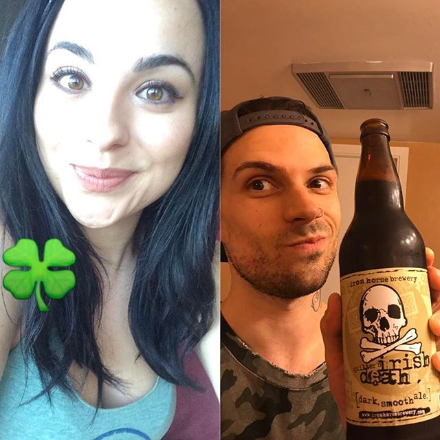 Happy #stpatricksday from #seattle  and #sanfrancisco !  Cheers friends!  #cheerstotheweekend #guinness #irishdeath #kissuswereitalian #anotherexcusetodrink