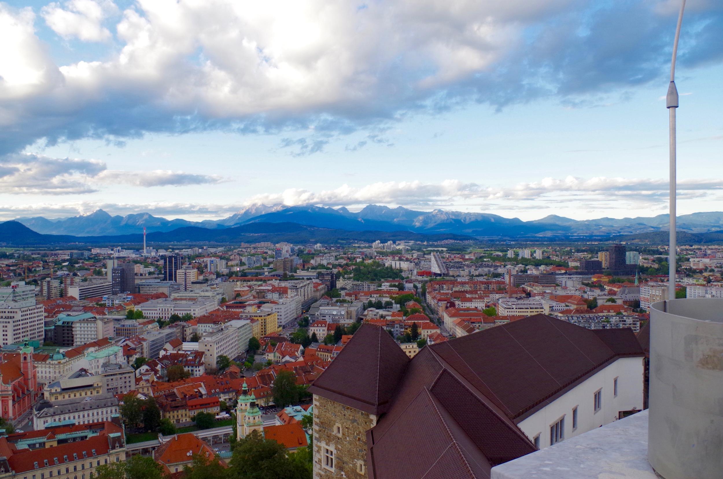 View from Ljubljana castle
