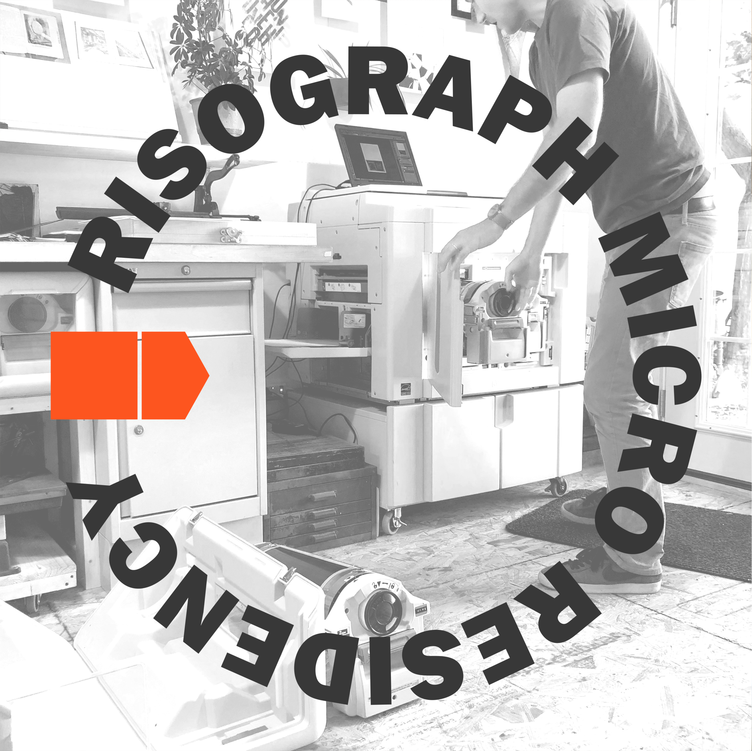 Our first resident artists,    Jason Urban    and    Leslie Mutchler    of    JULMstudios   , produced four editions of 3-color risograph prints in early August 2019.
