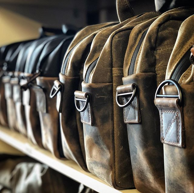 Capturing the world class craftsmanship of @sfbags (Waterfield Designs) for an upcoming video. What a visually rich environment-all bags are handmade in San Francisco!
